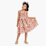 J.Crew Girls' smocked shoulder-tie dress in watermelon print