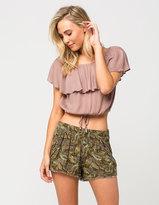 Full Tilt Tropical Print Womens Shorts