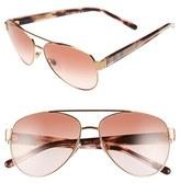 Burberry Women's 57Mm Aviator Sunglasses - Gold Pink