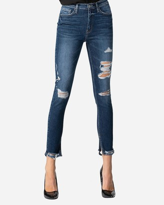 Express Flying Monkey High Waisted Distressed Skinny Ankle Jeans