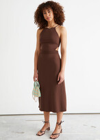 Thumbnail for your product : And other stories Ribbed Cut Out Midi Dress