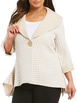 Multiples Plus One-Button Swing Jacket