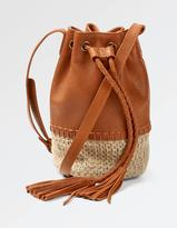 Fat Face Mini Straw Bucket Bag