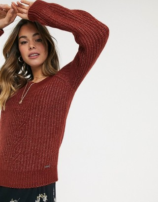 Abercrombie & Fitch off shoulder cable knit jumper