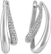 Ice Diamond Hoop Earrings in 10k White Gold (0.25cts)