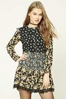Forever 21 FOREVER 21+ Floral Print Swing Dress