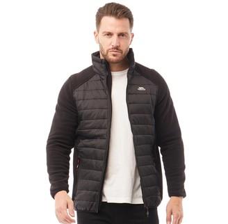 Trespass Mens Saunter Hybrid Padded Fleece Jacket Black