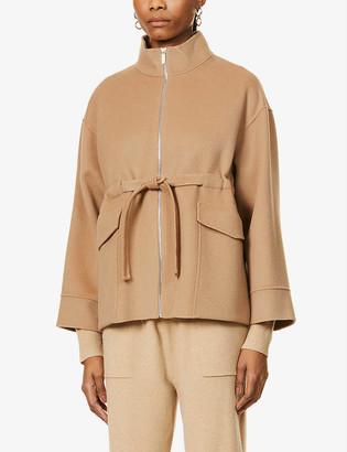 S Max Mara Safari high-neck wool jacket