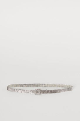 H&M Belt with Rhinestones - Silver