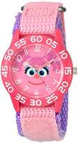 EWatchFactory Girl's 'Sesame Street' Quartz Plastic and Nylon Watch, Color:Pink (Model: W003159)
