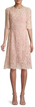 Dolce & Gabbana Short-Sleeve Lace Dress