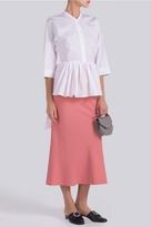 Tome Boning Waist Midi Skirt