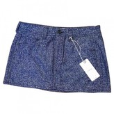 Mauro Grifoni Blue Wool Skirt for Women