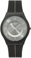 Swatch Unisex Swiss Power Tracking Black Silicone Strap Watch 34mm SFB145