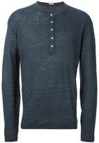 Massimo Alba henley T-shirt - men - Linen/Flax - XS