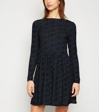 New Look Spot Soft Touch Mini Smock Dress
