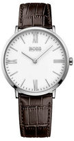 HUGO BOSS Jackson Stainless Steel Leather Strap Watch