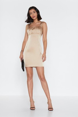 Nasty Gal Womens Tonight Ruched Mini Dress - Beige - 12, Beige