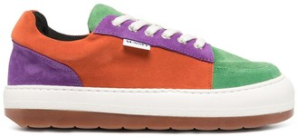 Sunnei Colour-Block Panel Sneakers