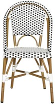 The Well Appointed House Set of Two Riviera Indoor/Outdoor Stacking Side Chairs in Black and White - OUT OF STOCK
