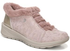 On Bzees Golden Fur Trim Slip Sneakers Women's Shoes