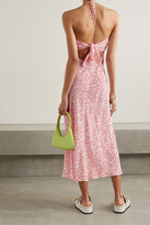 Thumbnail for your product : Rixo Marilyn Crepe Halterneck Midi Dress - Red