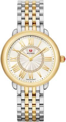 Michele Serein Diamond Watch Head & Bracelet, 36mm