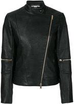 Stella McCartney asymmetric fitted jacket - women - Cotton/Polyester/Viscose - 42