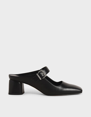 Charles & Keith Mary Jane Block Heel Mules
