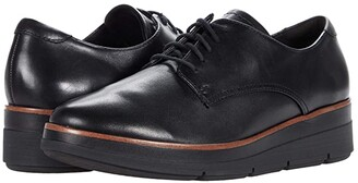 Clarks Shaylin Lace (Black Leather) Women's Shoes