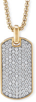 David Yurman Men's Pave Diamond Streamline Dog Tag