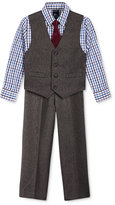 Nautica Little Boys' 3-Pc. Heather Herringbone Vest, Pants & Shirt Set