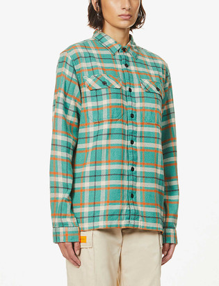 Patagonia Fjord checked organic-cotton flannel shirt