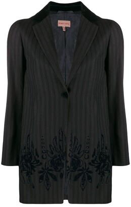 Romeo Gigli Pre-Owned 1990's Pinstriped Straight Jacket