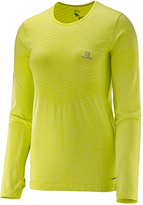 Salomon Yuzu Yellow Elevate Seamless Tee - Women