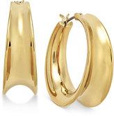 Lauren Ralph Lauren Gold-Tone Concave Hoop Earrings