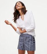 LOFT Striped Sailor Riviera Shorts with 3 1/2 Inch Inseam