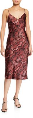 L'Agence Jodie V-Neck Slip Dress