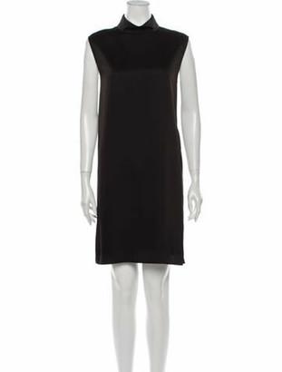Judith & Charles Mock Neck Mini Dress w/ Tags Black