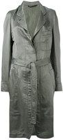 Ann Demeulemeester tie-waist trench coat - women - Cotton/Silk/Linen/Flax - 34