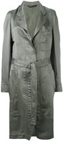 Ann Demeulemeester tie-waist trench coat - women - Silk/Cotton/Linen/Flax - 34
