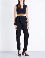 Roksanda Striped stretch-crepe jumpsuit