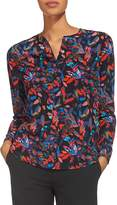 Whistles Jerry Printed Silk Shirt
