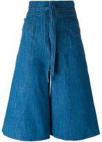 Masscob high-waisted knee-length shorts