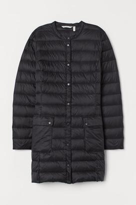 H&M Long Lightweight Down Jacket - Black