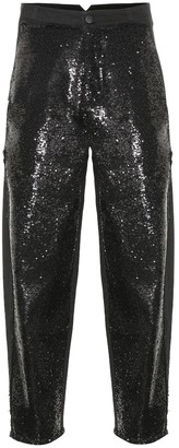 Philosophy di Lorenzo Serafini Sequined high-rise jeans