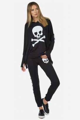 Lauren Moshi Eliza Love Skull Tuxedo Pant