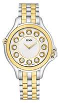 Fendi 38mm Crazy Carats 18K Gold & Stainless Steel Watch, 0.07 tdcw