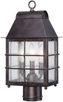 Minka Lavery Willow Pointe 3-Light Post-Mount Outdoor Lantern in Chelsea BronzeTM