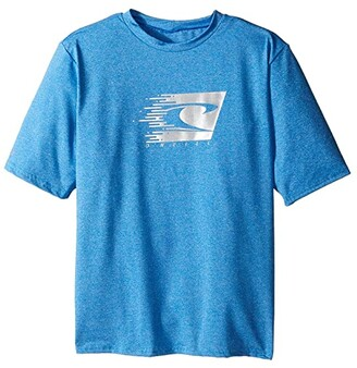 O'Neill Kids Kids 24-7 Hybrid Short Sleeve Sun Shirt (Little Kids/Big Kids) (Brite Blue) Boy's Swimwear
